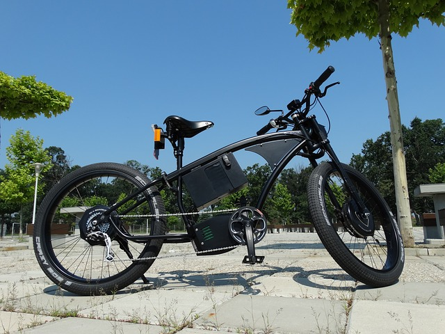 Fun electric bike chopper