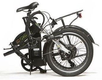 Go city folding bike folded.